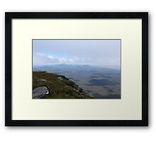 View from Bluff Knoll as the fog lifts looking west Framed Print