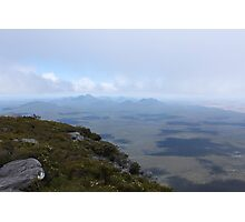 View from Bluff Knoll as the fog lifts looking west Photographic Print