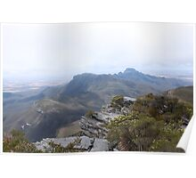 View from Bluff Knoll as the fog lifts looking east Poster