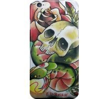 Skull with Serpent Tounge iPhone Case/Skin