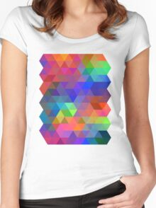 tri force Women's Fitted Scoop T-Shirt