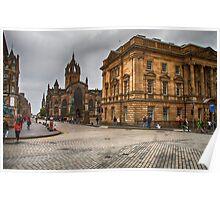 Edinburgh Street Scene Poster
