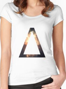 Delta letter space concept Women's Fitted Scoop T-Shirt