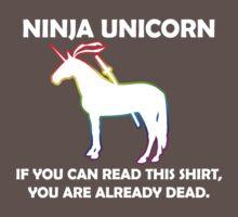 Ninja Unicorn. One Piece - Short Sleeve