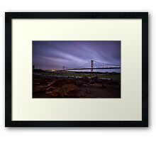 Forth Road Bridge Fife Scotland Framed Print