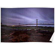 Forth Road Bridge Fife Scotland Poster