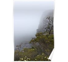 View from Bluff Knoll as the fog starts to lifts   Poster