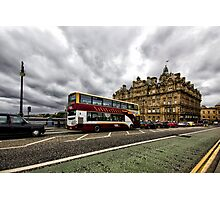 Edinburgh Bus Photographic Print