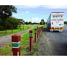 Truckie stopped for lunch - Cobden - Vic. Photographic Print