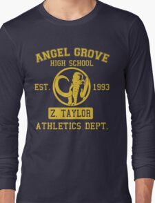 Angel Grove H.S. (Black Ranger Edition) Long Sleeve T-Shirt