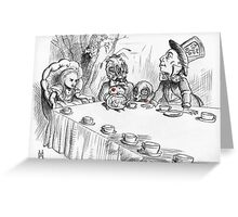 Alice's Deathly Tea Party Greeting Card