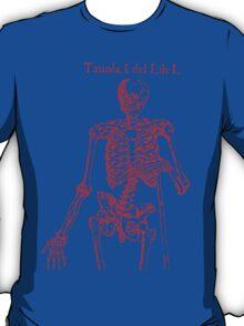 Red Skeleton Anatomical T-Shirt