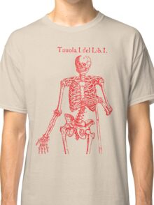 Red Skeleton Anatomical Classic T-Shirt