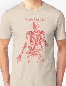 Red Skeleton Anatomical Unisex T-Shirt