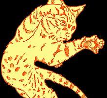 Ol' Yeller Cat in Gold Hues by Elizabeth Dibois