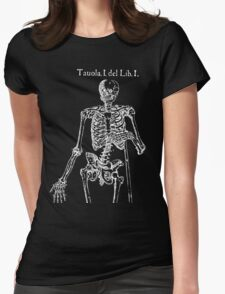 White Skeleton Anatomy Womens Fitted T-Shirt