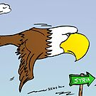 American eagle flying to Syria by Binary-Options