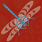 Coast Salish Dragonfly by Mark Gauti