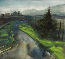 back road in alsea oregon by resonanteye