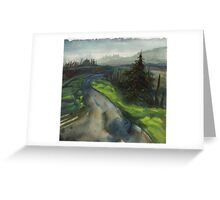 back road in alsea oregon Greeting Card