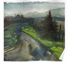 back road in alsea oregon Poster