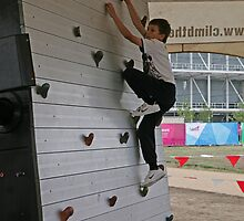 Rock climbing at the National Paralympic Day by Keith Larby