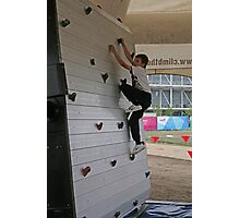 Rock climbing at the National Paralympic Day Photographic Print