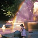 Little Lady under a rainbow  by Danny  Daly