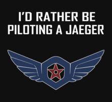 I'd Rather Be Piloting A Jaeger (Gipsy Danger) T-Shirt by lemonzuest