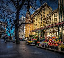 Flower Stall by Russell Charters