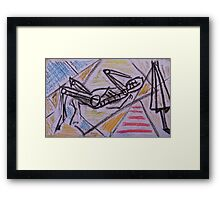 Holiday drawing 2013 #1 Boyfriend sunbathing Framed Print