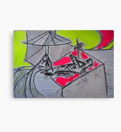 Holiday drawing 2013 #3 Boyfriend sunbathing Canvas Print