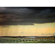 Storm over Therfield Photographic Print