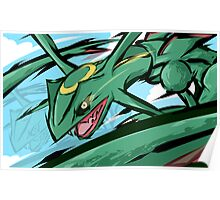 Rayquaza | ExtremeSpeed Poster