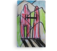 Two figures, enjoying a walk Canvas Print