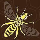 Coast Salish Bee by Mark Gauti