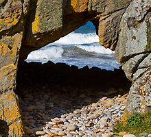 COVE BAY - PEBBLE CARPET TO THE TUNNEL by JASPERIMAGE