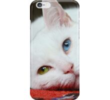 Charlie The White Pussy Cat iPhone Case/Skin