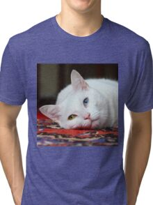 Charlie The White Pussy Cat Tri-blend T-Shirt