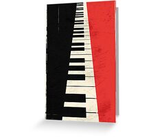 Piano keys Greeting Card