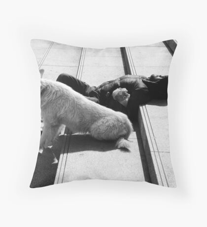 down, but not out Throw Pillow