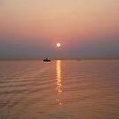 North Sea sunset by shakey