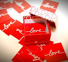 Love in a Box - Red by CreativeShelf