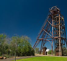 copper mine poppet head Cobar  by Danny Waters