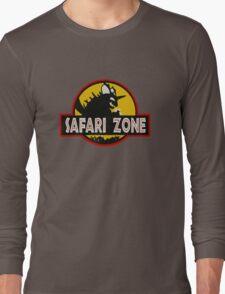 Safari Zone (Jurassic Park Style) Long Sleeve T-Shirt