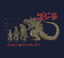 Evolution of King of Monsters Kids Tee