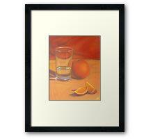 Orange you glad its not water? Framed Print