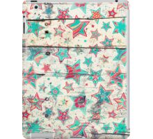 Grunge Stars on Shabby Chic White Painted Wood iPad Case/Skin