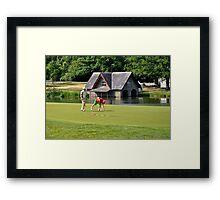 Golfers at Carton House Framed Print