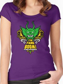 Fin Fang Boom! Fireworks Women's Fitted Scoop T-Shirt